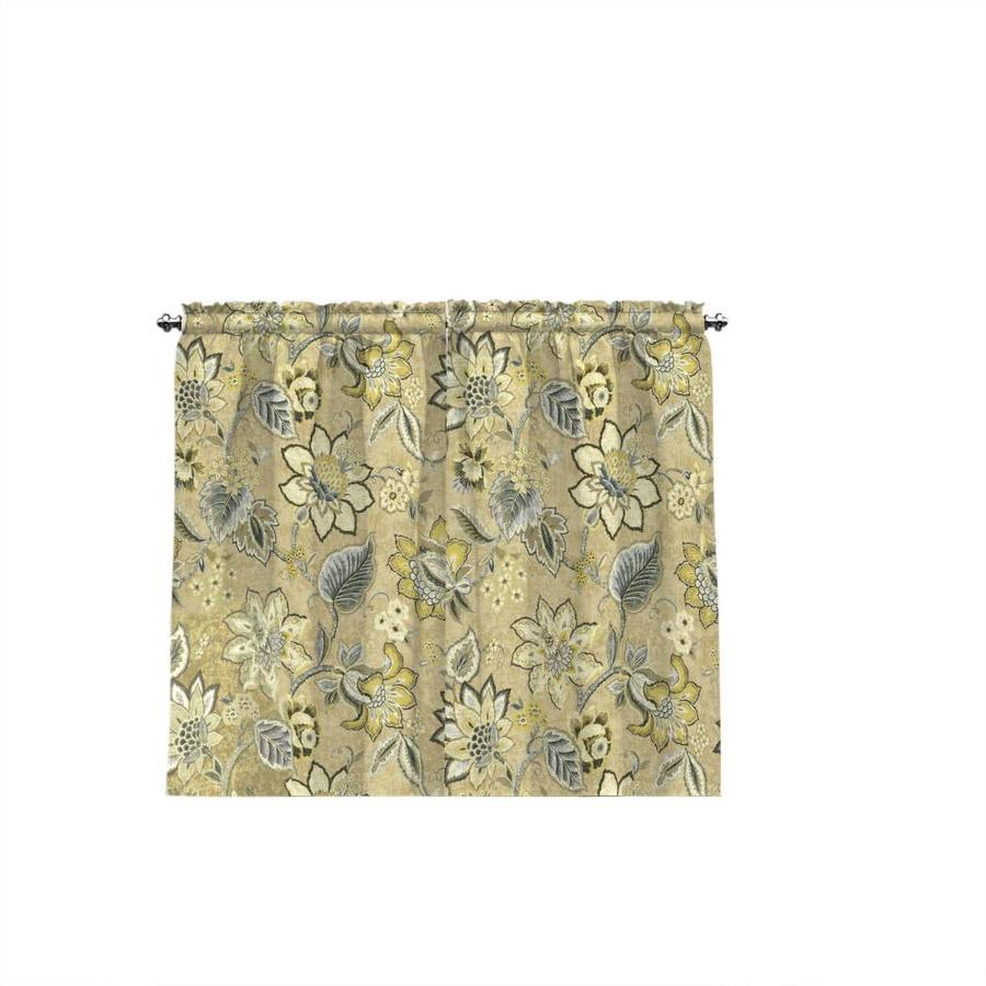 Waverly Clifton Hall 36-in Flax Cotton Rod Pocket Single Curtain Panel
