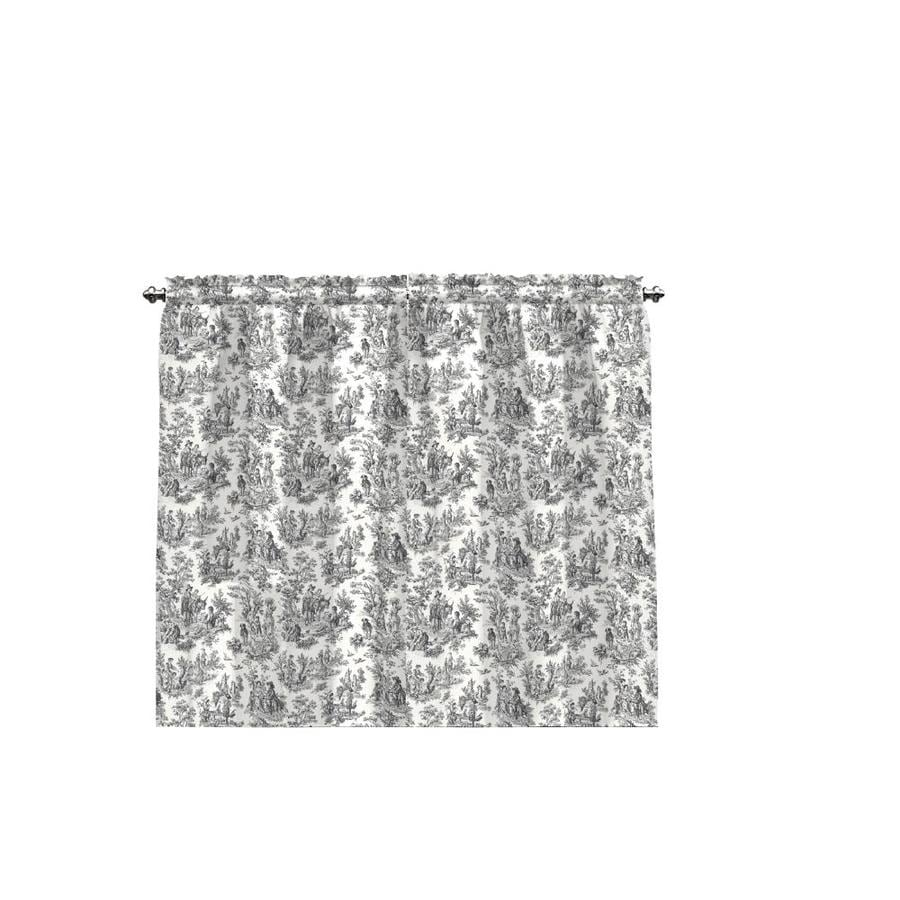 Waverly Charmed Life 36-in Onyx Cotton Rod Pocket Single Curtain Panel