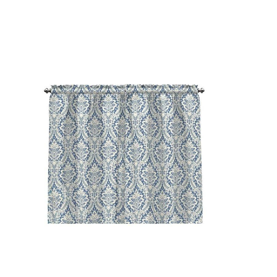 Waverly Donnington 36-in Cornflower Cotton Rod Pocket Single Curtain Panel