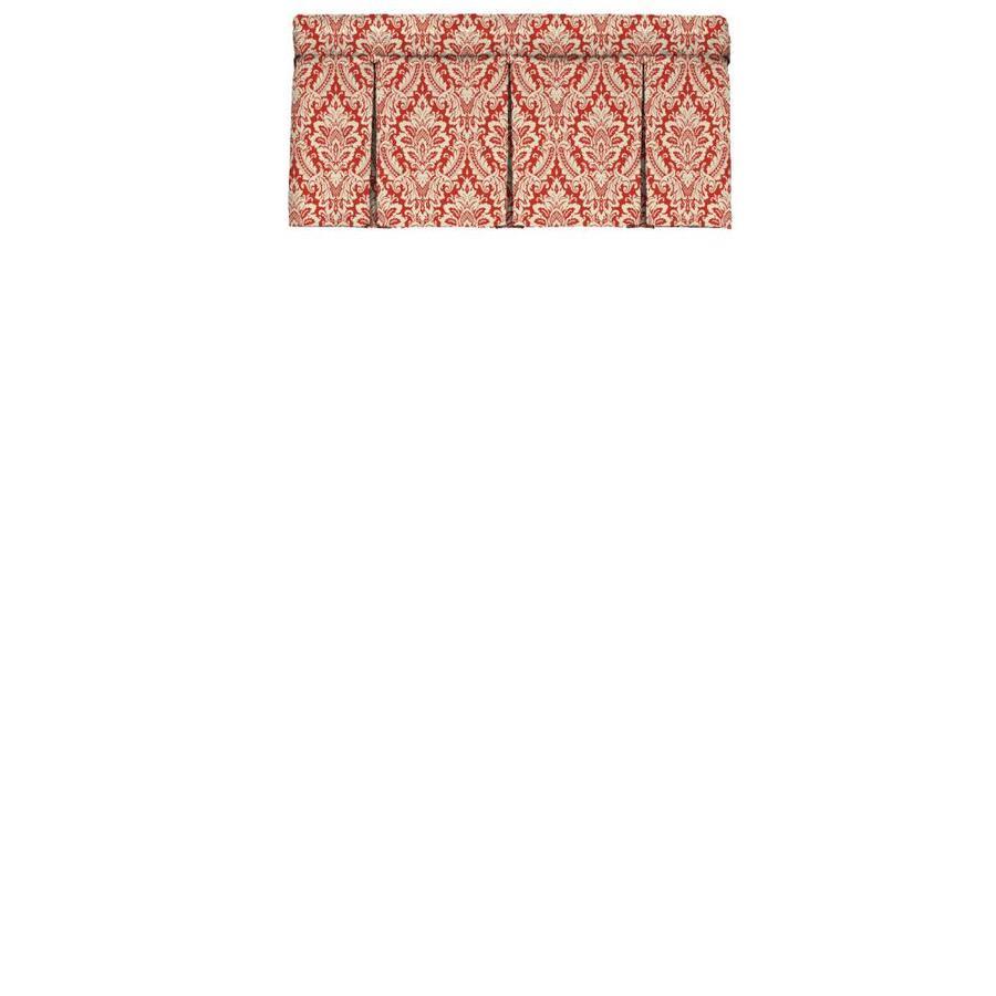 Waverly Donnington 18-in Crimson Cotton Rod Pocket Valance