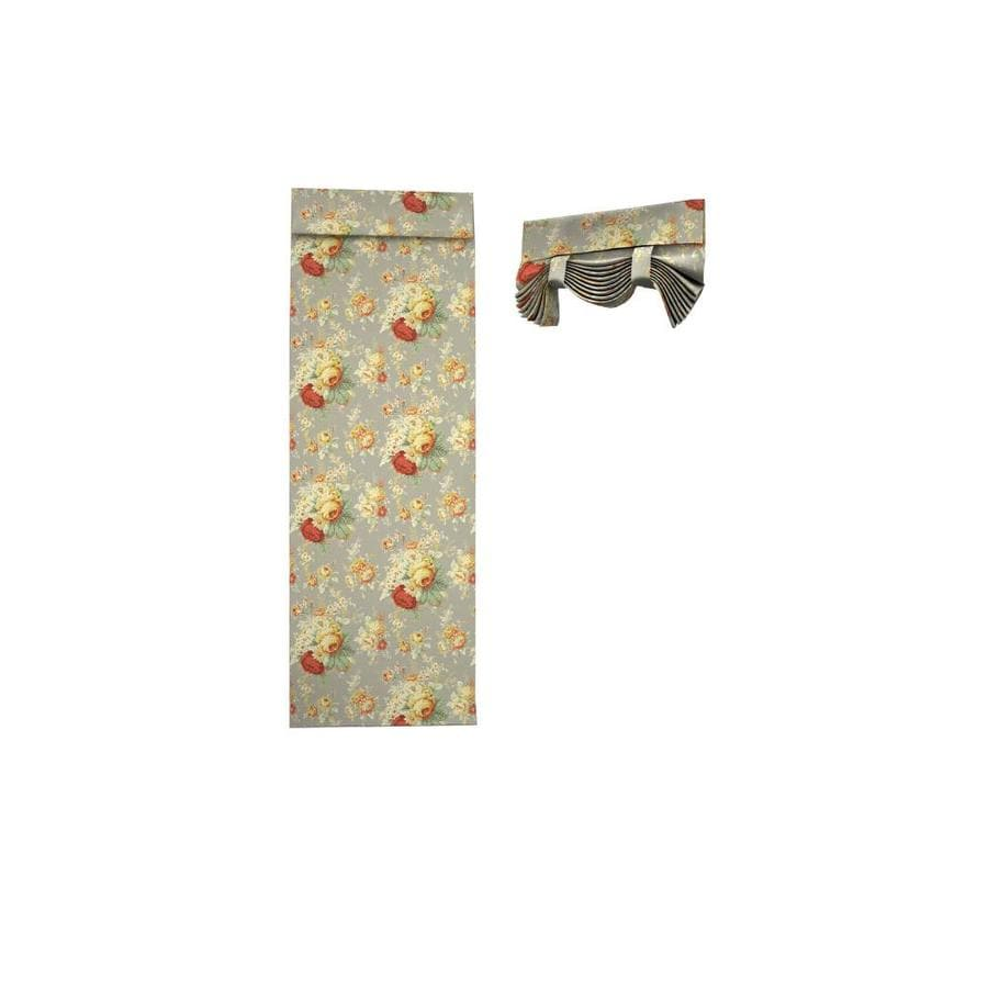 Waverly Sanctuary Rose 68-in Clay Cotton Rod Pocket Single Curtain Panel