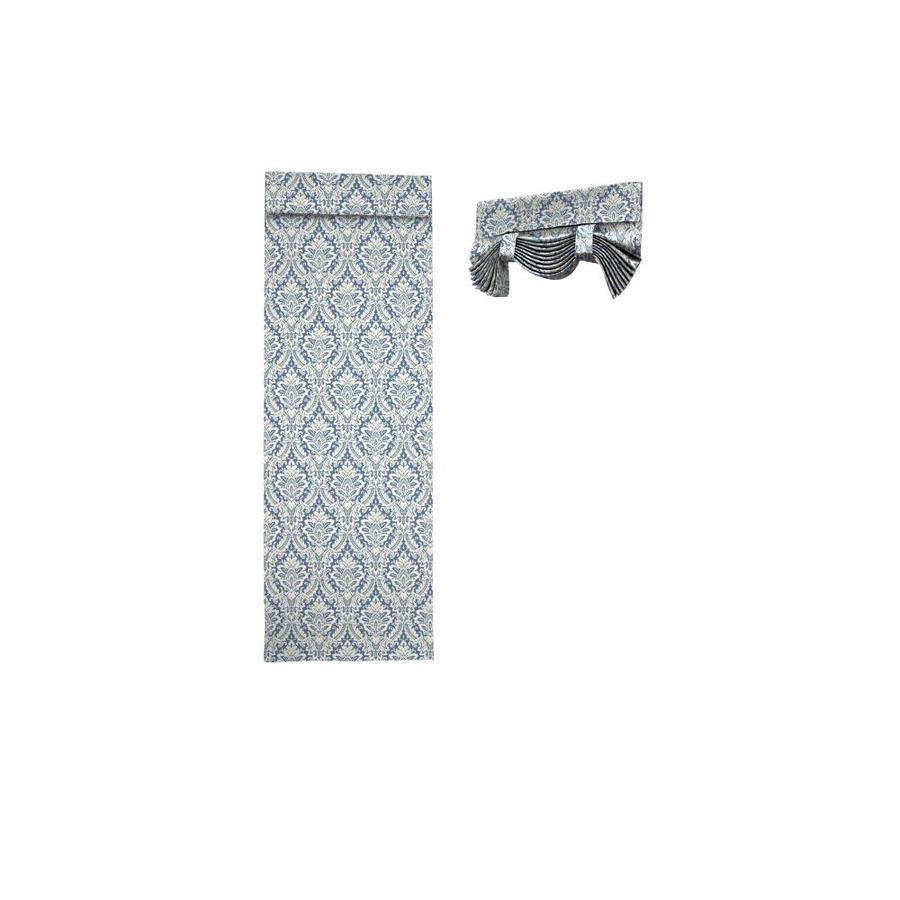 Waverly Donnington 68-in Cornflower Cotton Rod Pocket Single Curtain Panel