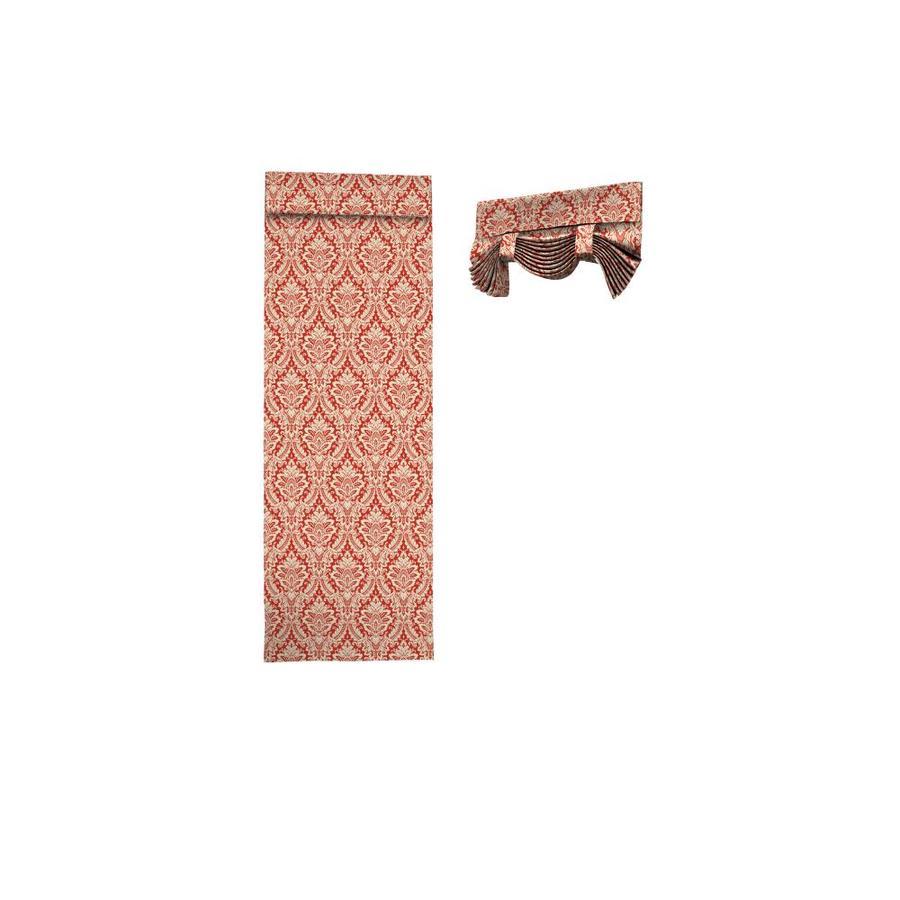 Waverly Donnington 68-in Crimson Cotton Rod Pocket Single Curtain Panel