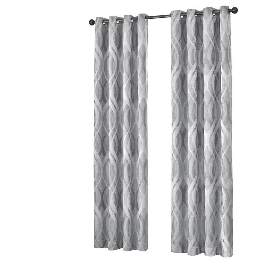 Eclipse 16429037063SLV Haley 37-Inch by 63-Inch Single Room Darkening Window Curtain Panel Silver
