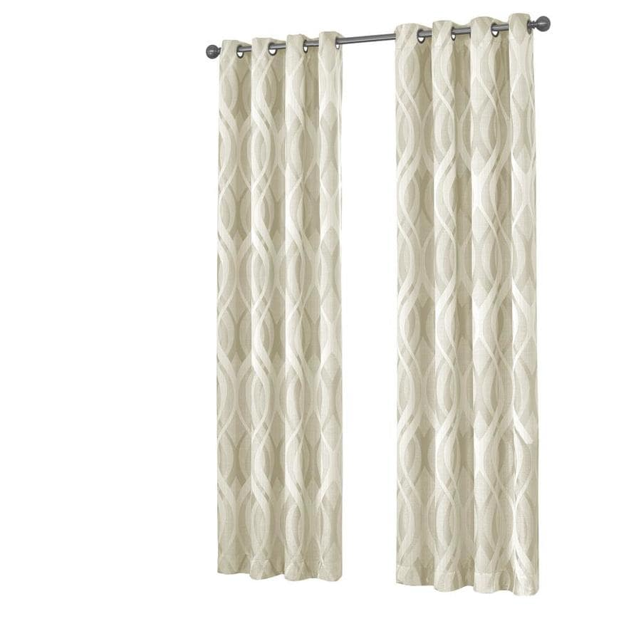 Eclipse Caprese 108 In Ivory Polyester Rod Pocket Blackout Thermal Lined Single Curtain Panel