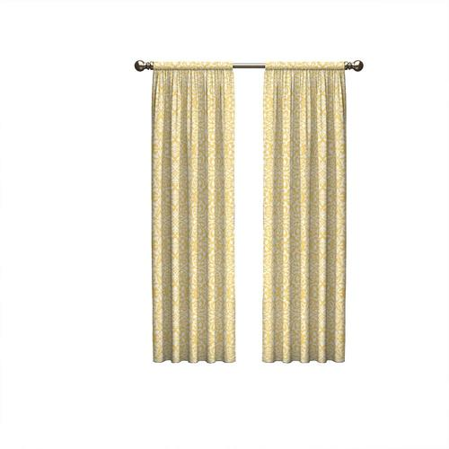 Pairs To Go 84 In Yellow Polyester Light Filtering Rod Pocket Curtain Panel Pair In The Curtains Drapes Department At Lowes Com