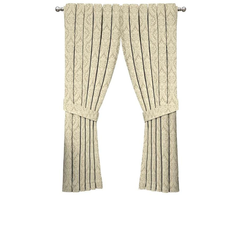 Waverly Donnington 84-in Linen Cotton Back Tab Single Curtain Panel