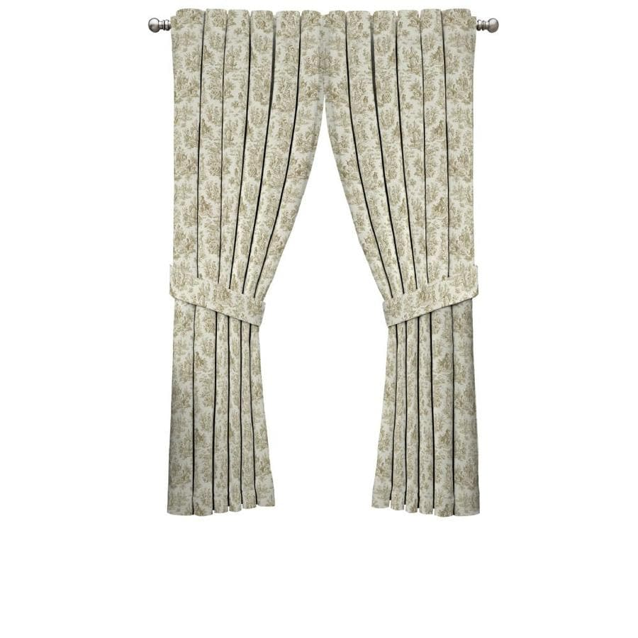 Waverly Charmed Life 84-in Linen Cotton Back Tab Single Curtain Panel