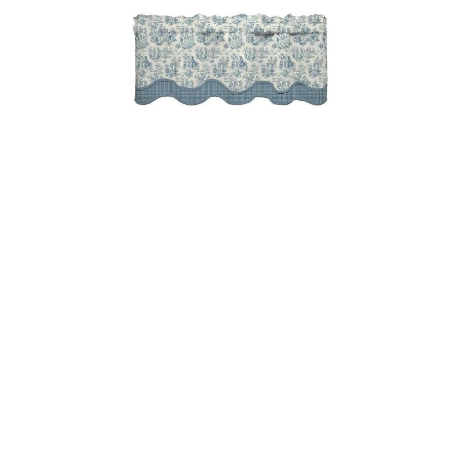 Waverly Charmed Life 18-in Cornflower Cotton Rod Pocket Valance