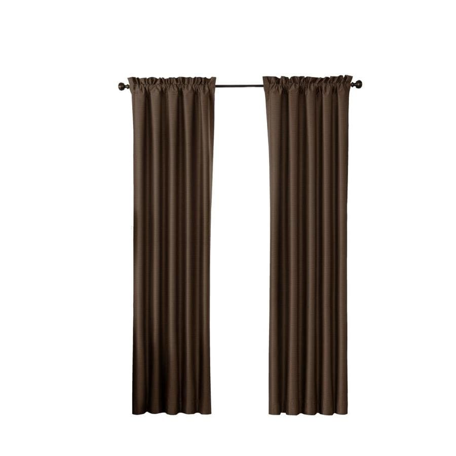 Eclipse 63 In Chocolate Polyester Rod Pocket Blackout Single Curtain Panel