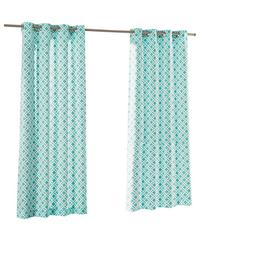 Parasol St Kitts 84 In Turquoise Polyester Grommet Light Filtering Single Curtain Panel