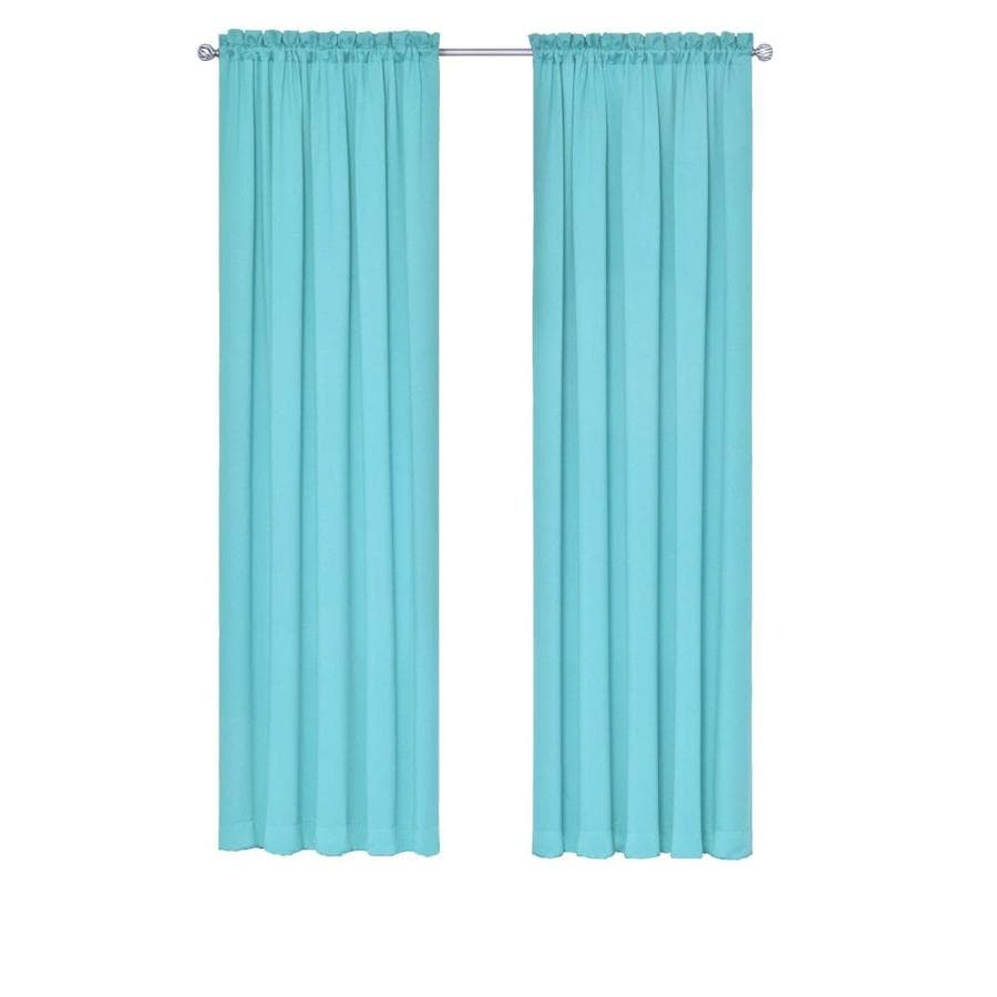 Eclipse Tricia 84 In Turquoise Polyester Rod Pocket Room Darkening