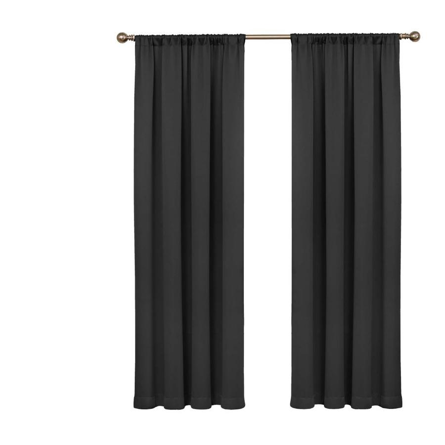 Eclipse Tricia 84 In Black Polyester Rod Pocket Room Darkening