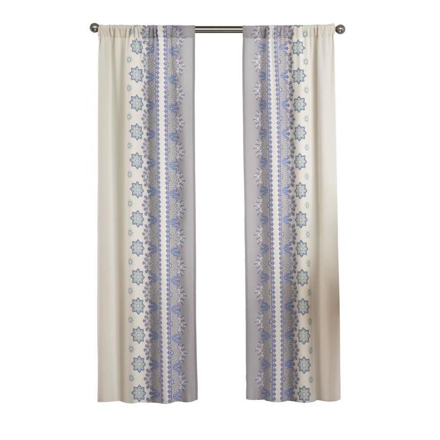 Pairs To Go Mantra 84 In Blue Polyester Rod Pocket Light Filtering Curtain Panel Pair