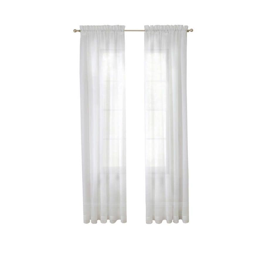 Pairs To Go Victoria Voile 63 In White Polyester Rod Pocket Sheer