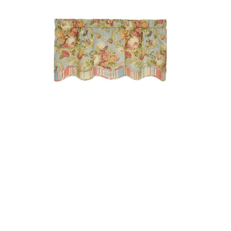 Waverly Spring Bling 18 In Vapor Cotton Rod Pocket Valance
