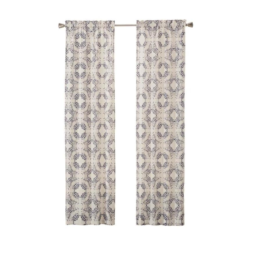 Pairs To Go Aldrich 63 In Indigo Polyester Rod Pocket Light Filtering Curtain Panel Pair