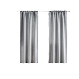 Solid Thermapanel Room Darkening Curtain Gray 54X54 - Eclipse™