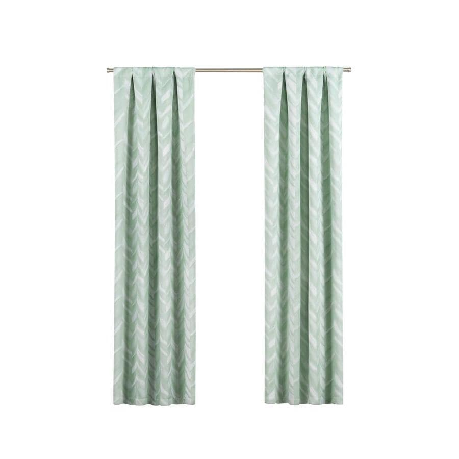 Eclipse Haley 95 In Mint Polyester Rod Pocket Blackout Single Curtain Panel