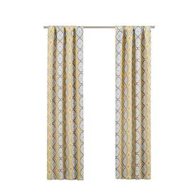 Eclipse Morrow 84 In Gold Polyester Rod Pocket Blackout Single Curtain Panel