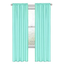 Eclipse 84 In Pool Polyester Blackout Rod Pocket Single Curtain Panel In The Curtains Drapes Department At Lowes Com