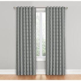 Waverly Lovely Lattice 84-in Gray Cotton Single Curtain Panel