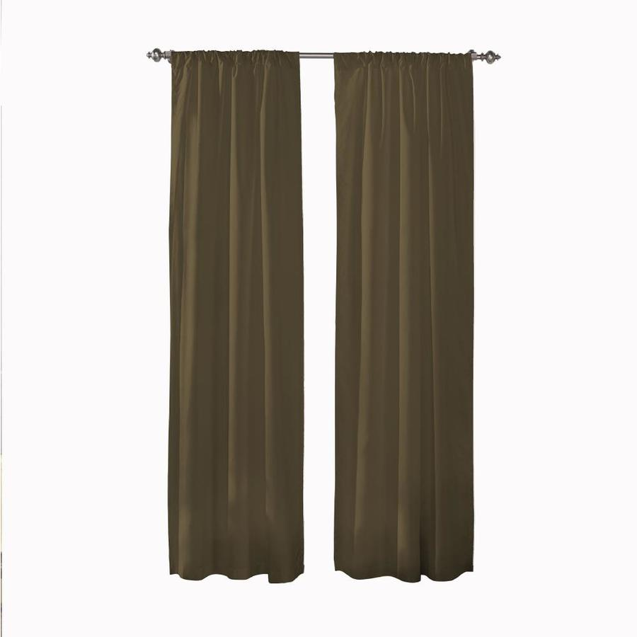 Pairs To Go 54 In Toffee Polyester Room Darkening Rod Pocket Curtain Panel Pair In The Curtains Drapes Department At Lowes Com