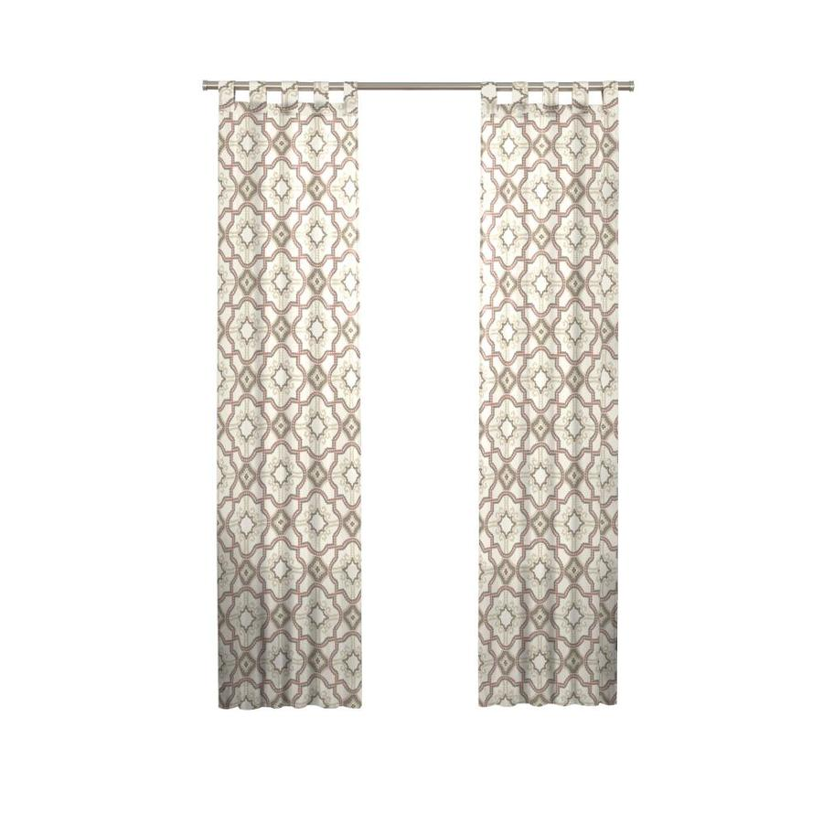 Pairs To Go Cecily 63 In Clay Cotton Top Tab Light Filtering Curtain Panel Pair