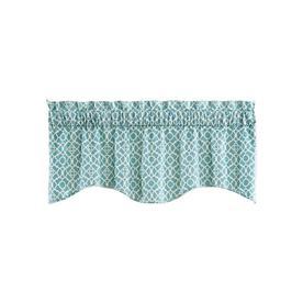 Waverly Lovely Lattice 16-in Aqua Cotton Rod Pocket Valance