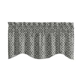 Waverly Lovely Lattice 16 In Gray Cotton Rod Pocket Valance