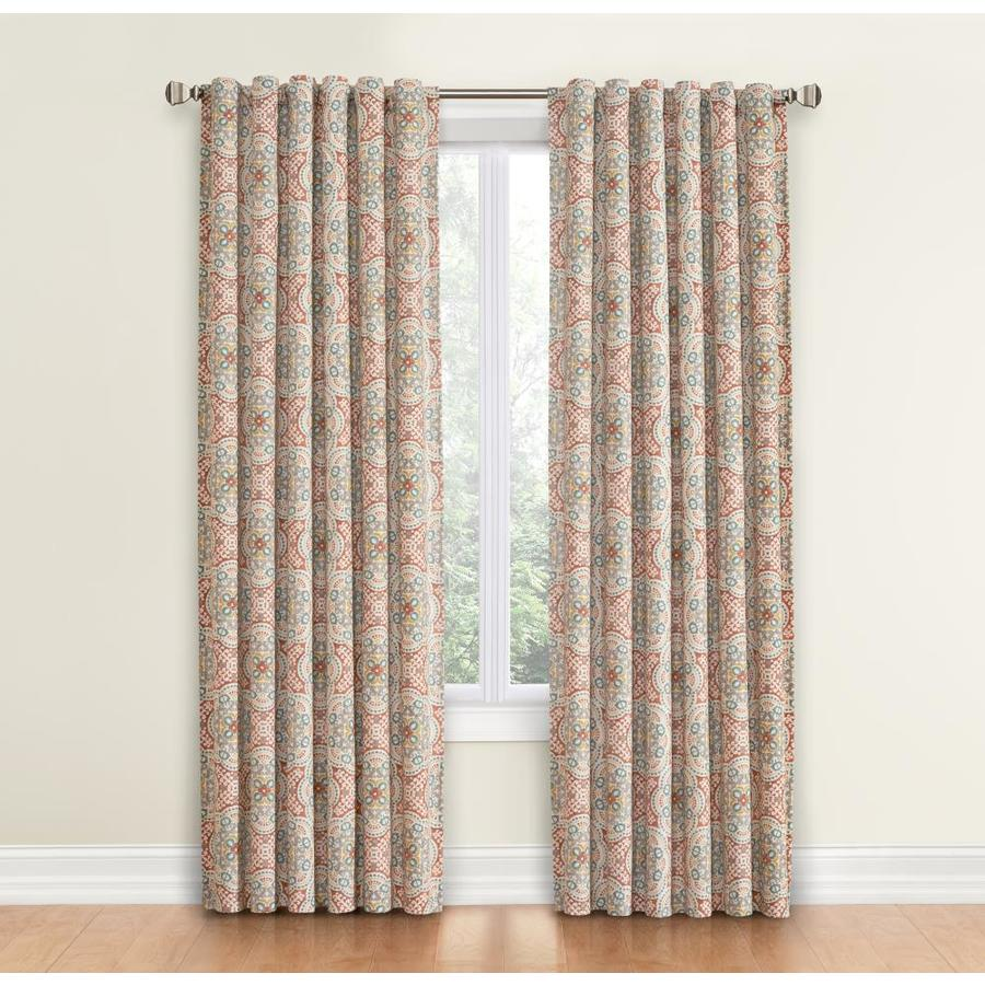 Waverly Astrid 84-in Spice Cotton Back Tab Single Curtain Panel