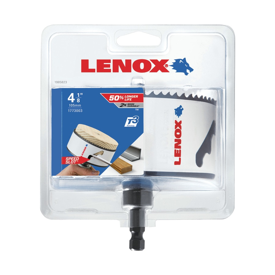 LENOX 4-1/8-in Bi-Metal Arbored Hole Saw