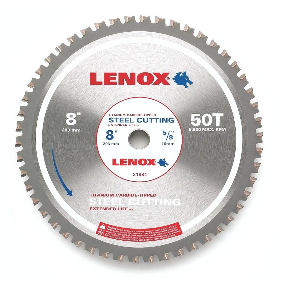LENOX 8-in 50-Tooth Continuous Carbide Circular Saw Blade