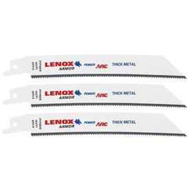 LENOX Armor Power Arc Curved 3-Pack 6-in 14-TPI Thick Metal Cutting Reciprocating Saw Blade - 614AR
