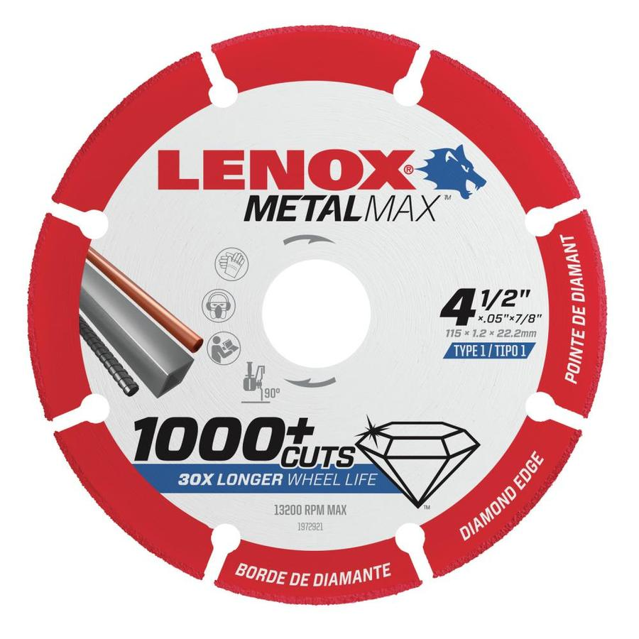 LENOX MetalMax Diamond Grit 4-1/2-in Cutting Wheel