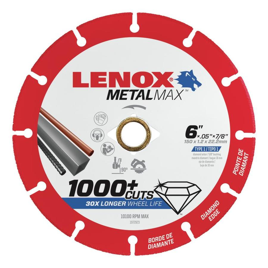 LENOX MetalMax Diamond Grit 6-in Cutting Wheel