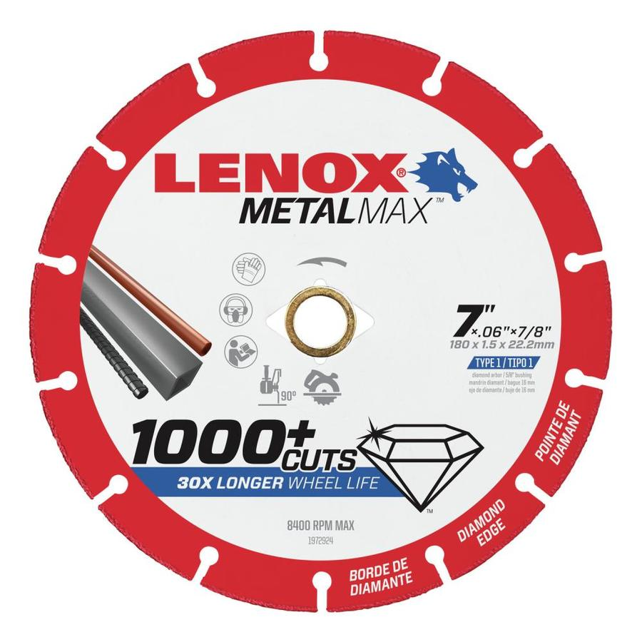 LENOX MetalMax Diamond Grit 7-in Cutting Wheel