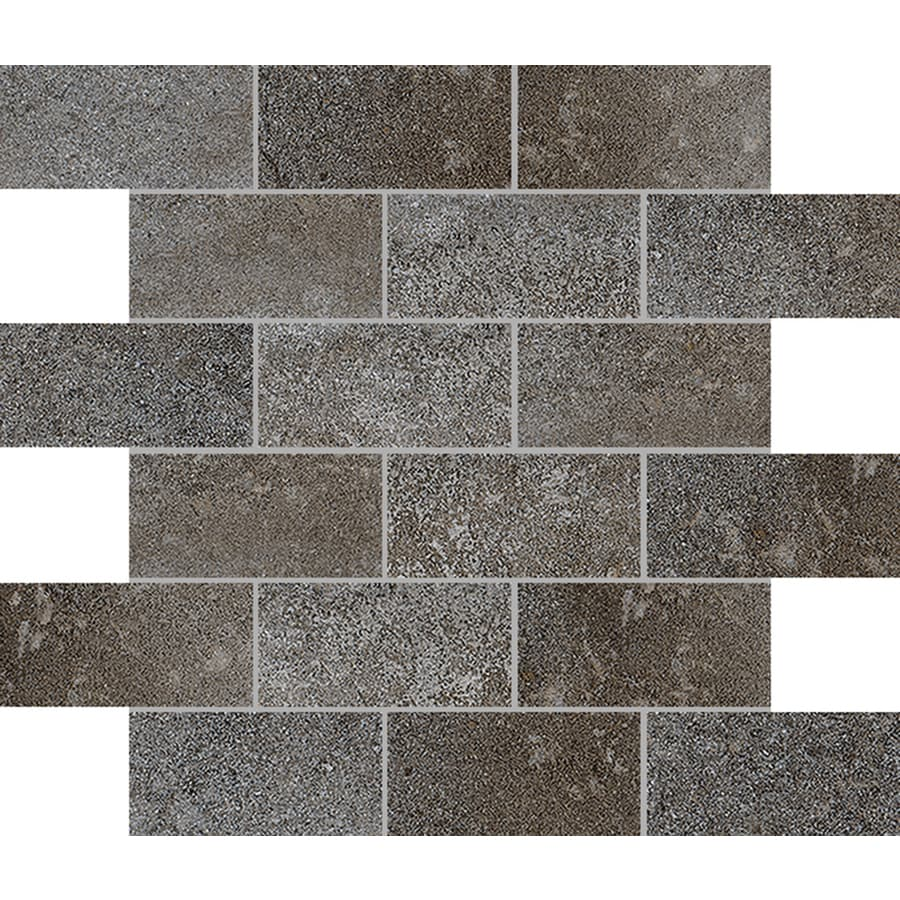 FLOORS 2000 Bridgeport Winter Brick Mosaic Porcelain Floor and Wall Tile (Common: 12-in x 12-in; Actual: 11.81-in x 11.81-in)