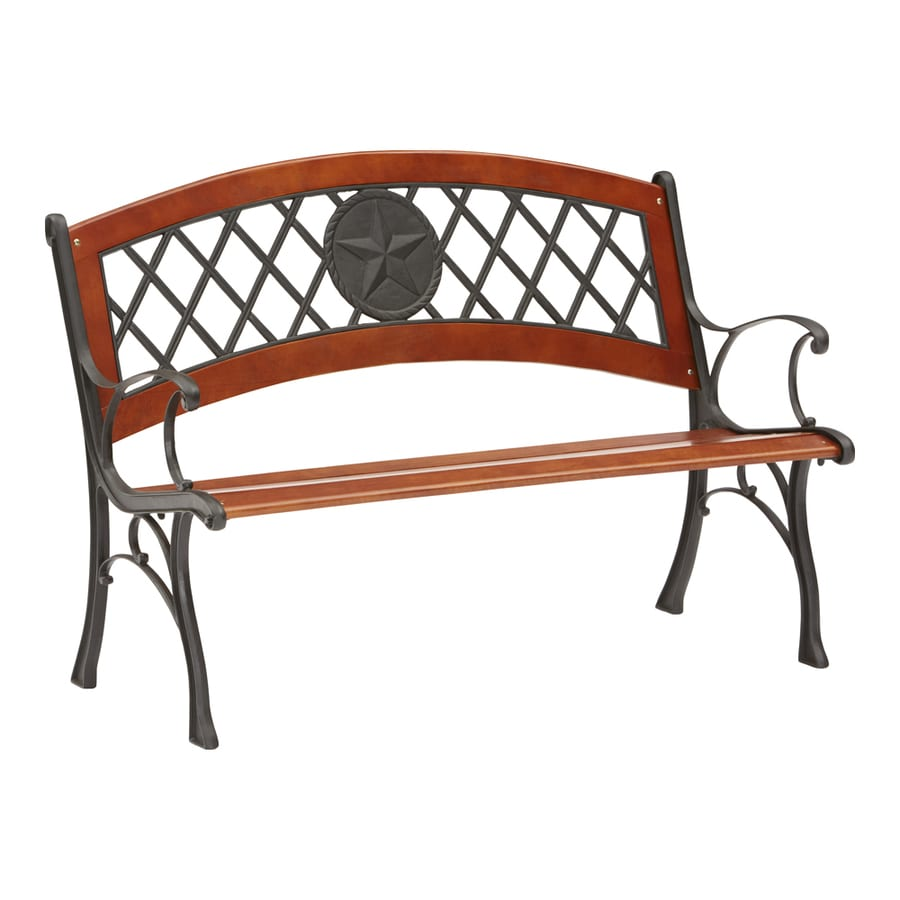 Garden Treasures 26-in W x 49.5-in L Patio Bench