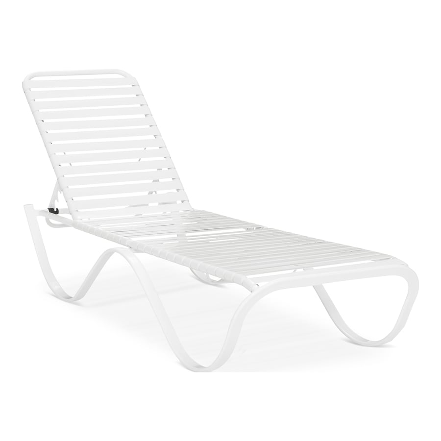 Garden Treasures Pagosa Springs Count Aluminum Stackable Patio Chaise  Lounge Chair