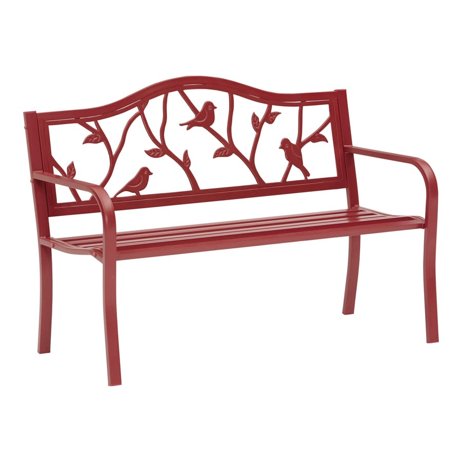 Shop garden treasures 25 2 in w x 50 4 in l patio bench at Yard bench
