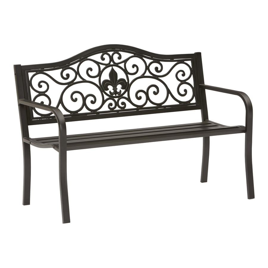 Shop garden treasures 25 2 in w x 50 4 in l patio bench at Lowes garden bench