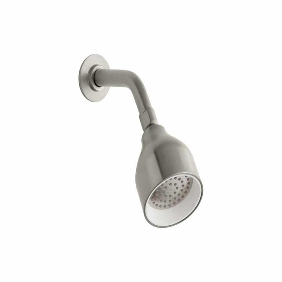 KOHLER Toobi 3.5625-in 2.0-GPM (7.6-LPM) Vibrant Brushed Nickel 1-Spray WaterSense Showerhead