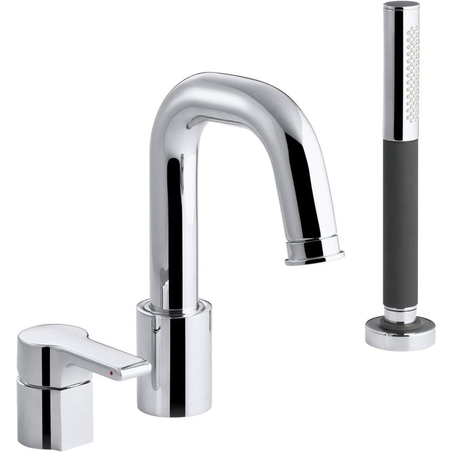 KOHLER Singulier Polished Chrome 1-Handle Bathtub and Shower Faucet with Handheld Showerhead