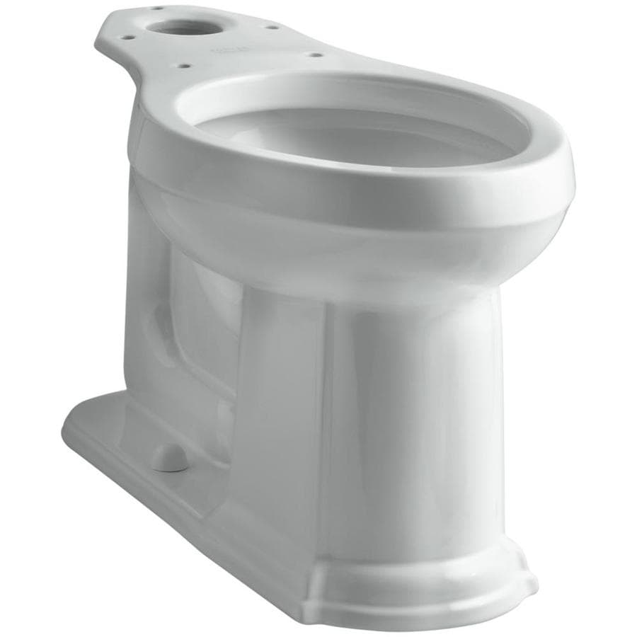 KOHLER Devonshire Chair Height Ice Grey 12-in Rough-In Elongated Toilet Bowl