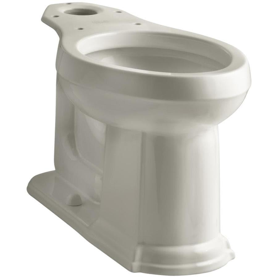 KOHLER Devonshire Chair Height Sandbar 12-in Rough-In Elongated Toilet Bowl