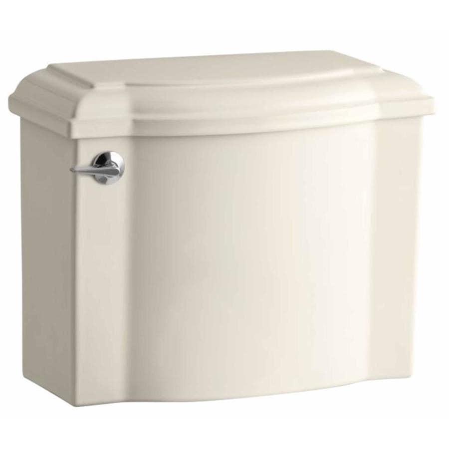 KOHLER Devonshire Almond 1.28-GPF Single-Flush High-Efficiency Toilet Tank