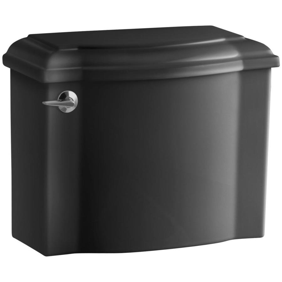 Shop kohler devonshire black black single flush high efficiency toilet tank at - Kohler devonshire reviews ...