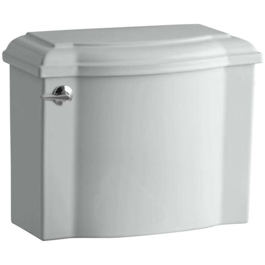 KOHLER Devonshire Ice Grey 1.28-GPF (4.85-LPF) 12-in Rough-In Single-Flush High-Efficiency Toilet Tank