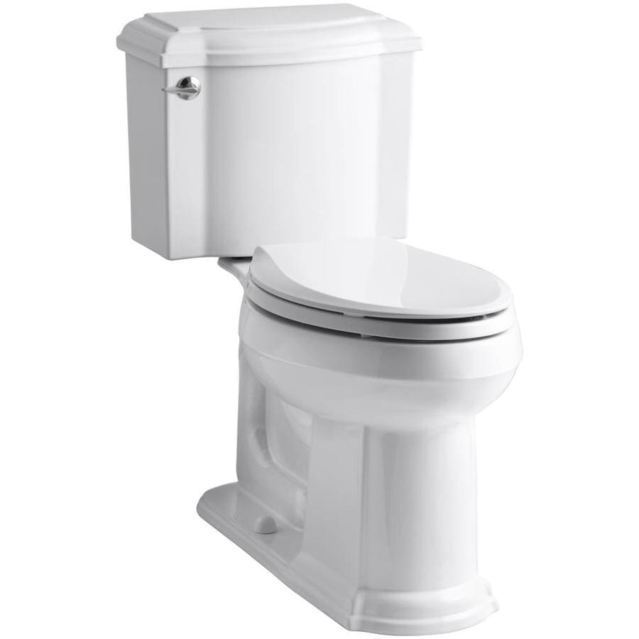 KOHLER Devonshire 1.28-GPF (4.85-LPF) White Elongated Chair Height 2-piece Toilet
